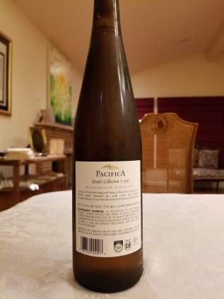 2017 Pacifica Riesling, Evan's Collection, Washington - bl