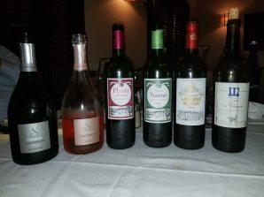 NV Janisson & Fils Champagne Grand Cru Brut, NV Janisson & Fils Champagne Brut Rose, 2011 Plaisir de Siaurac, 2012 Chateau Siaurac, 2015 Chateau Labegorce Marguax, 2015 Virginie de Vala