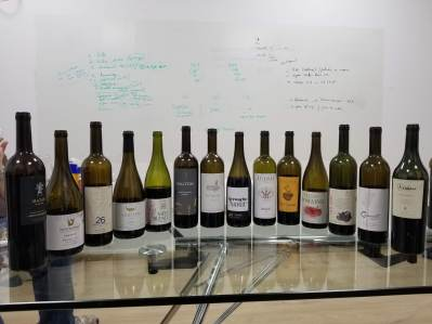 14 red wines in the tasting