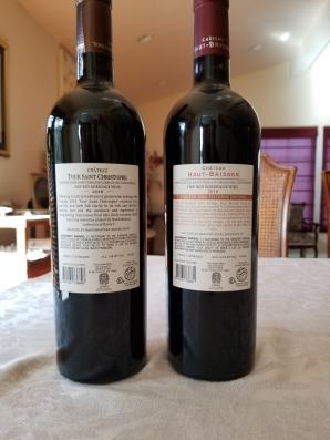 2016 Chateau Haut Brisson and 2016 Chateau Tour Saint Christophe - bl