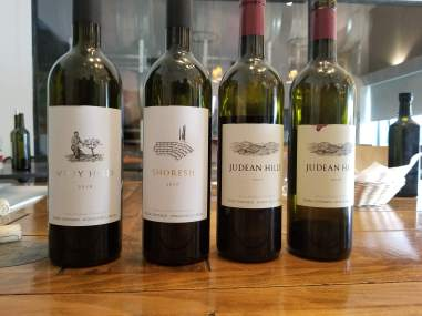 2016 Tzora Judean Hills, red and 2017 Tzora judean Hills red, 2016 Tzora Shoresh, Red, and 2016 Tzora Misty Hills