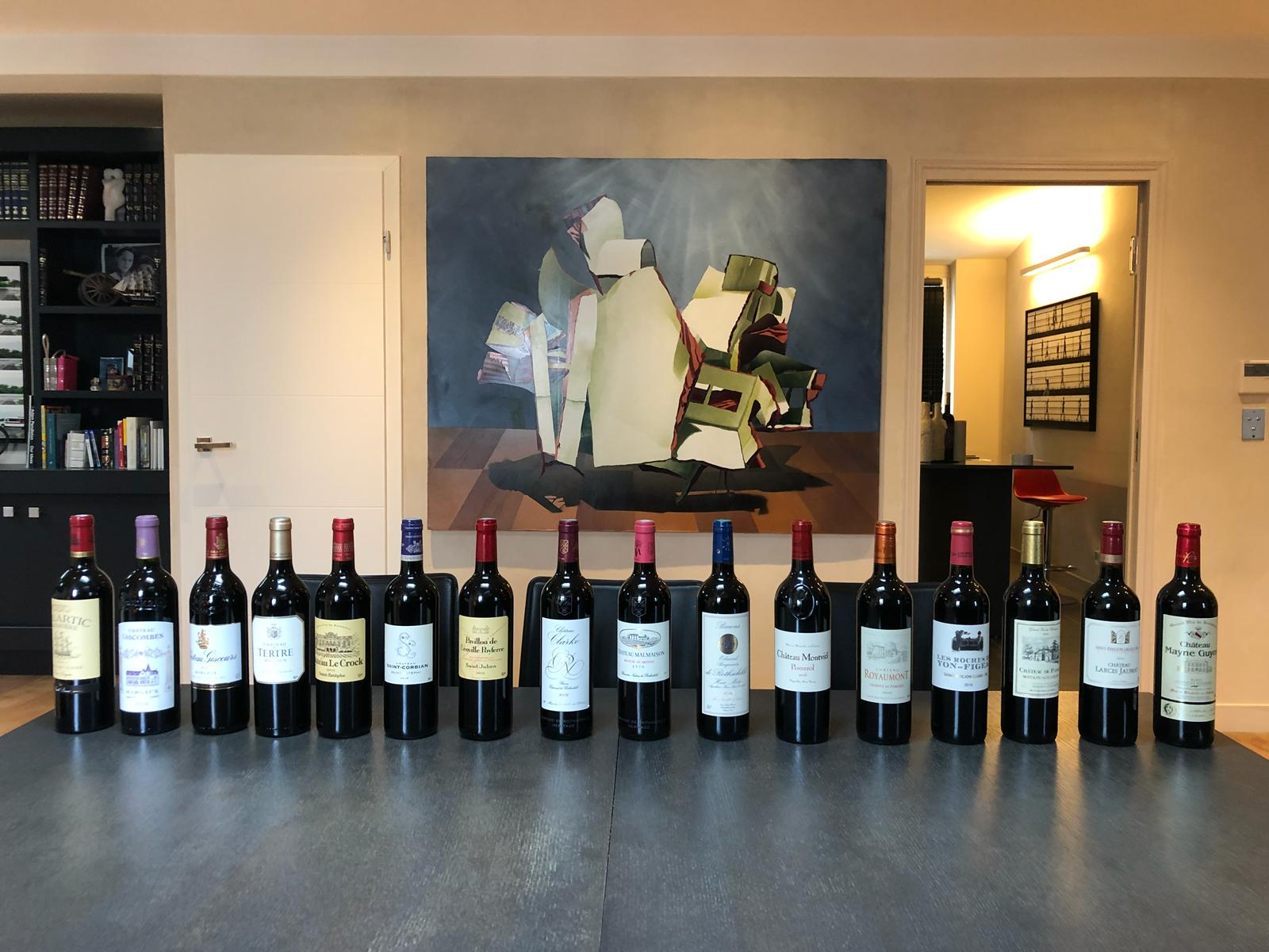 All 16 of the 2016 and 2017 Royal Wines of Bordeuax