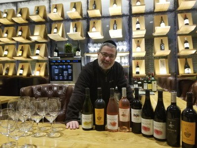 Pierre Miodownick with his Domaine Netofa Wines