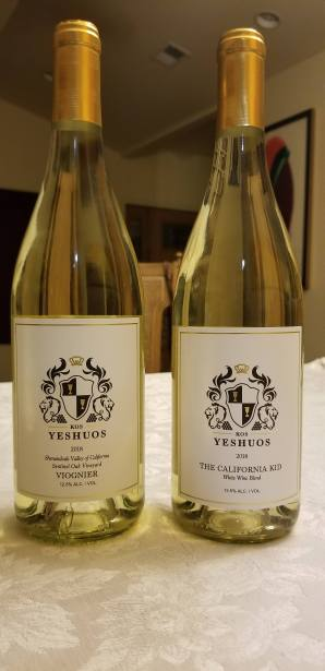 2018 kos yeshuos viognier and the 2018 kos yeshuos california kid