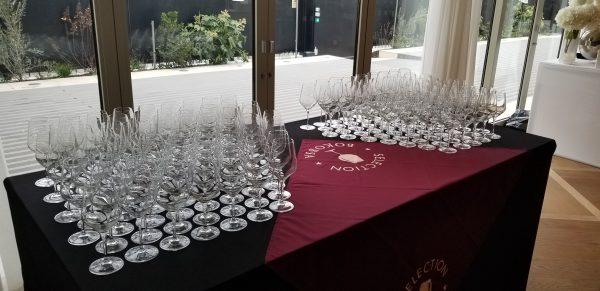 Glasses at Bokobsa Sieva Tasting Feb 2019