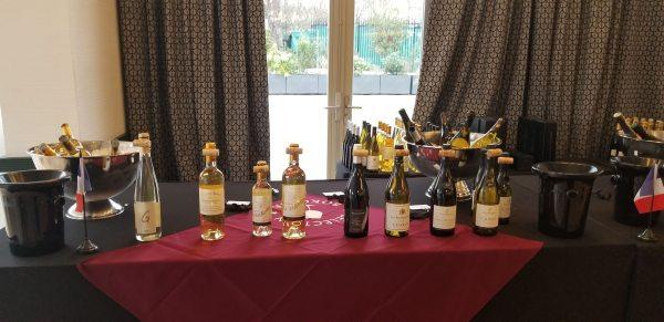 Sauternes, Pouilly Fume, and Chablis wines at Bokobsa Sieva Tasting Feb 2019