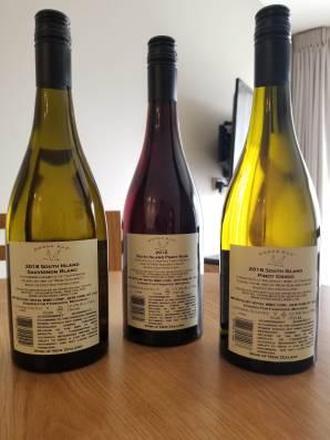 2018 Goose Bay Pinot Noir, Pinot Grigio, and Sauvignon Blanc - bl