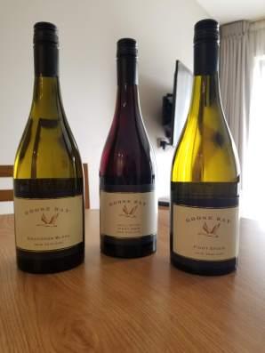 2018 Goose Bay Pinot Noir, Pinot Grigio, and Sauvignon Blanc
