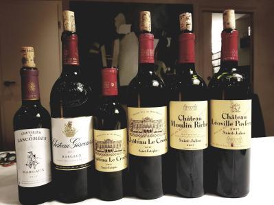 2017 Chevalier de Lascombes, 2017 Chateau Giscours, 2017 Chateau La Crock (mevushal), 2017 Chateau La Crock, 2017 Chateau Moulin Riche, 2017 Chateau Leoville Poyferre