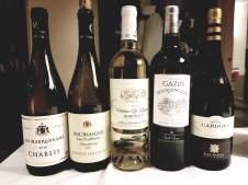2018 Les Marronniers Chablis, 2018 Domaine Ternynck Bourgogne, Les Truffieres,2018 Chateau Les Riganes, Blanc,2018 Chateau Gazin Rocquencourt, Blanc,2018 Ramon Cardova Albarino
