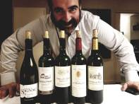 Menachem Israelievitch with the 2018 Chateau Signac, 2018 Chateau Trijet, 2017 Les Lauriers de Rothschild, 2017 Chateau de Parsac, 2017 Chateau Royaumont