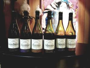 2016 Moise Taieb Cote de Brouilly, 2017 Moise Taieb Morgon, 2017 Moise Taieb Julienas, 2017 Moise Taieb Fleurie, 2018 Moise Taieb Brouilly, 2017 Moise Taieb Moulin-A-Vent