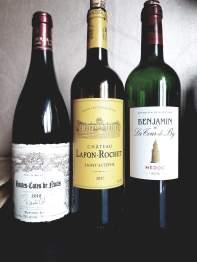 2010 Roberto Cohen Hauts-Cotes de Nuits, 2017 Chateau Lafon-Rochet, Saint-Estephe, Grand Cru Classe, 2016 Benjamin de La Tour de By, Medoc