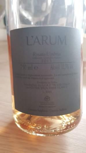 2013 L'Arum, Rosado Umbria - bl