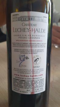 2016 Chateau Luchey-Halde,Pessac-Leognan - bl