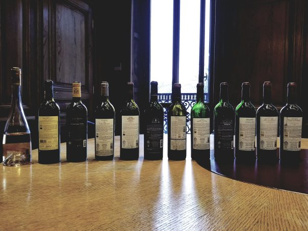 Complete Les Vins IDS wine lineup - back labels