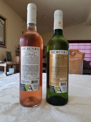 2019 Elvi Wines Herenza Rose and 2018 Elvi Wines Herenza White Alella - bl