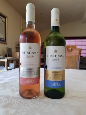 2019 Elvi Wines Herenza Rose and 2018 Elvi Wines Herenza White Alella