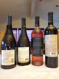 2018 Eagle's Landing Pinot Noir, 2018 Herzog Albarino, Special Reserve, 2019 Herzog Rose, Pinot Noir, Tasting Room Reserve, 2017 Herzog Cabernet Franc, Baroque Series Reserve, North Coast - bl